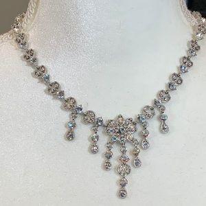 Kirks Folly silver crystal necklace